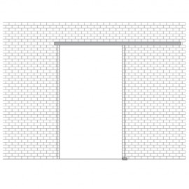 Portavant 60 Single Sash Kit - Wall Mount - 1996mm - Al