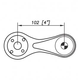 S3000 Spider Bracket Series - 1 Arm 180 Degree - AISI316