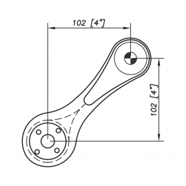 S3000 Spider Bracket Series - 1 Arms 90 Degree - AISI316