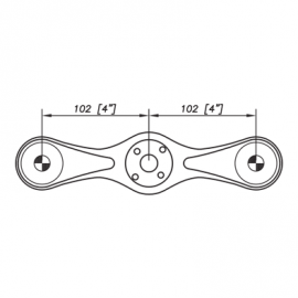 S3000 Spider Bracket Series - 2 Arms 180 Degree - AISI316