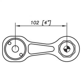 S3001 Evo Spider Bracket Series - 1 Arm 180 Degree - AISI316