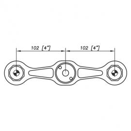 S3001 Evo Spider Bracket Series - 2 Arms 180 Degree - AISI31