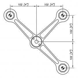 S3001 Evo Spider Bracket Series -3 Arms - AISI316