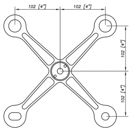 S3001 Evo Spider Bracket Series -4 Arms - AISI316
