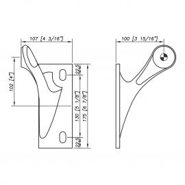 S3100 Spider Bracket Series - 1 Arm - Left - AISI316