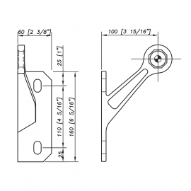 S3101 Evo Spider Bracket Series - 1 Arm - Left - AISI316