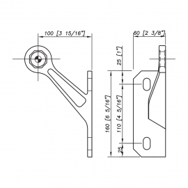 S3101 Evo Spider Bracket Series - 1 Arm - Right - AISI316