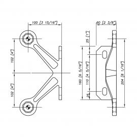 S3101 Evo Spider Bracket Series - 2 Arm - AISI316