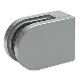 Glass Clamp - 63x45mm - Zinc - Satin - Flat - 6-12mm
