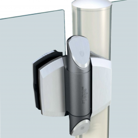 Glass Gate Hinge - 8-10mm Thick Glass - 25kg Max