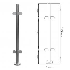 Centre Balustrade Post - 1100mm - Flat Cap