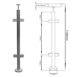 135 Degree Balustrade Post - 1100mm - Hand Rail