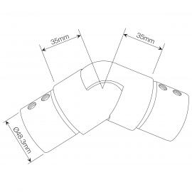 Adjustable Slotted Stainless Joiner - Downwards Slopes