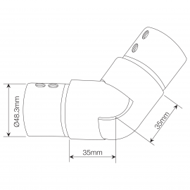Adjustable Slotted Stainless Joiner - Upward Slopes