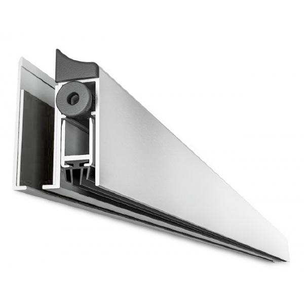 Side Mounted Glass Door Drop Down Seal - 930mm - SS Finish