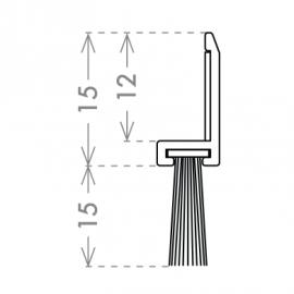 Horizontal Locker Brush - SS Effect - 200mm