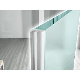 Glass Lip - Self Adhesive Door Seal - Clear