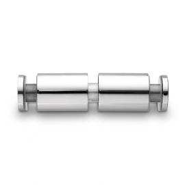 Glass Handle Connectors - Satin Stainless