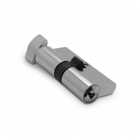 Standard Thumb Turn  Europrofile Cylinder - Polished Chrome