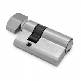 Short Thumb Turn Europrofile Cylinder - Satin Chrome