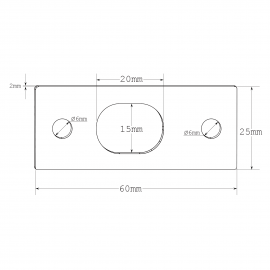 Wall Receiver (Keeper Plate) - SSS