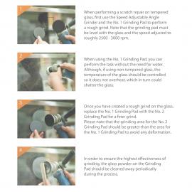 Glass Scratch Repair Kit Including 110V Bosch Grinder