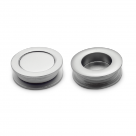 Finger Pulls Chrome Plated - 26mm Hole