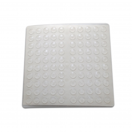 8mm Clear Silicone Buffers - Sphere - 500 Per Card