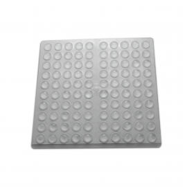 10mm Clear Silicone Buffers - Sphere - 300 Per card
