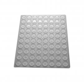 13mm Clear Silicone Buffers - Flat - 240 Per Card