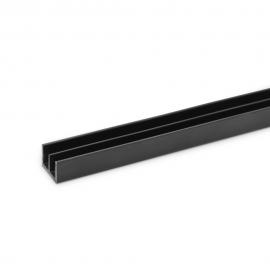 4mm Plastic Sliding Track - Top - Black - 1.83 Metres