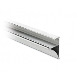 Glass Shelf Profile - 10mm or 8mm Glass - Bright Anodised