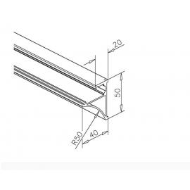 Glass Shelf Profile - 10mm or 8mm Glass - SS Effect