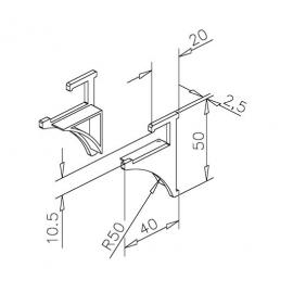 Glass Shelf Profile - End Caps - Plastic Grey