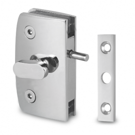 Indicator Lock with  Receiver - Glass to Wall - Chrome