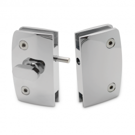 Indicator Lock with  Receiver - Glass to Glass - Chrome