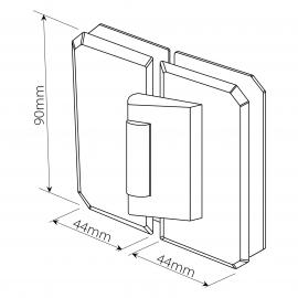 Bi-Folding 180 Degree - Outward Glass To Glass Hinge - PC