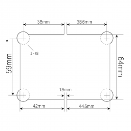 Amazon Range 180 Degree Glass To Glass Shower - Matte Black