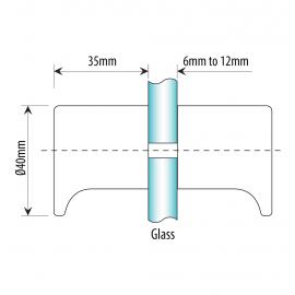 40mm x 35mm Shower Knob - Polished Chrome