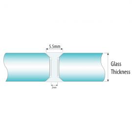 180 Degree - 10mm - Black Glass To Glass Joiner