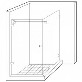 Wall to Glass Reinforcement Bar Kit - Satin Chrome