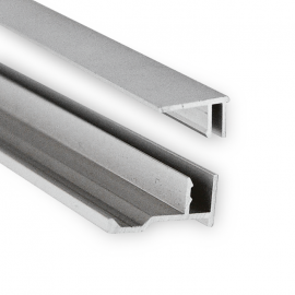 Snap On J Trim - Anodised Finish For 6mm Mirror - 2.5 Metre