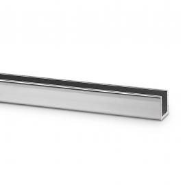 11mm X 12 mm U Channel - Anodised Aluminium - 8mm Groove