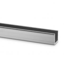15mm X 15mm U Channel - Anodised Aluminium - 11mm Groove
