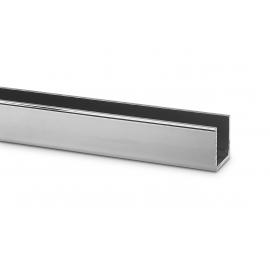 17mm x 20mm U Channel -  Anodised Aluminium - 14mm Groove