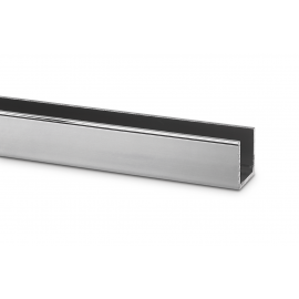 15mm Polished Silver U Channel For 10mm Thick Glass