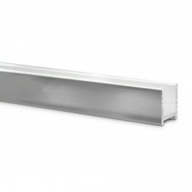 16mm Polished Aluminium U Channel With Gasket For 10mm Glass