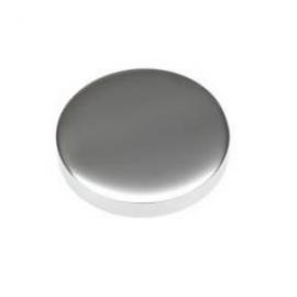 15mm - Flat Caps - Polished Chrome