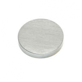 15mm - Flat Caps - Satin Chrome