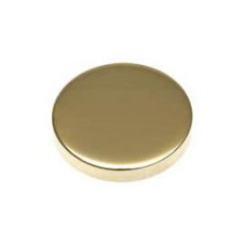 15mm - Flat Caps - Polished Brass